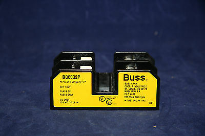 Cooper Bussman BC6032P Fuse Block 2 Pole 30 Amp 600V Class CC Fuses Only