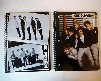 ONE DIRECTION Spiral Bound Notebook Paper Wide Rule LOT of 2