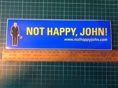 "Prime Minister John Howard 2004 Election ""Not Happy John"" Sticker - 235mm"