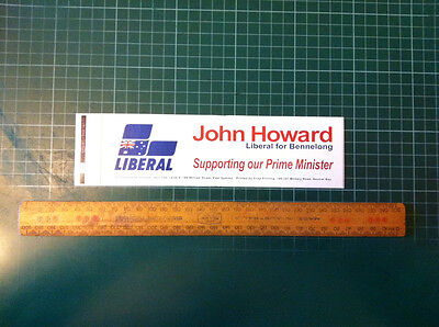 Prime Minister John Howard 2007 Bennelong Fed Election Campaign Sticker - 198mm