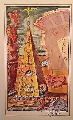 Salvador Dali Hand Signed Small 1946 Lithograph with COA Spain Art