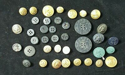Group Of Mixed NAVY Metal and plastic Buttons WWII?