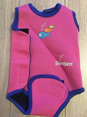 Swimbest Baby Girl Wetsuit Swimming 0-6 Months. Pink Swimming Costume