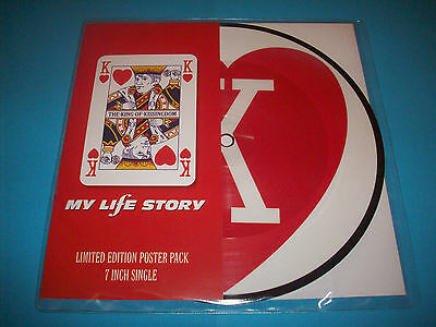 """My Life Story  The King Of Kissingdom  7"""" Single  Picture Disc  Indie  Ex+/ex+"""