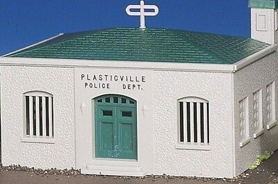 Bachmann 'HO' Model Railroad Building Kit-Plasticville POLICE STATION #45145 NIB