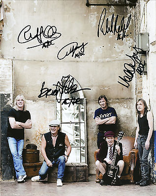 """AC/DC Hand Signed By All New """"Tour Promotional"""" Photo 10x8"""
