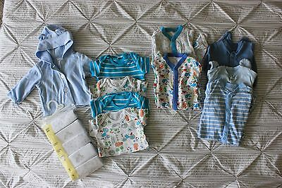 Baby boy 0-3 month vest and sleepsuit bundle, some BNWT