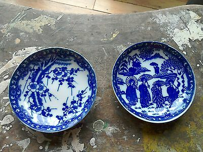 Prunus Blue And White Plate And Another