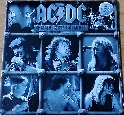 Ac/dc 2012 Official Calendar New & Sealed