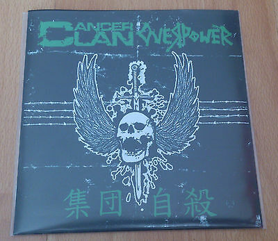 """Cancer Clan/Overpower Split 7"""" Limited Edition  Cyness Y Brutal Truth"""