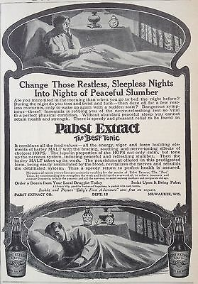 Antique 1909 Ad(F10)~Pabst Extract Co. Milwaukee, Energy Health Tonic