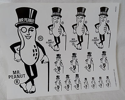 1993 Page of Planters Mr Peanut Ad Slicks from Nabisco