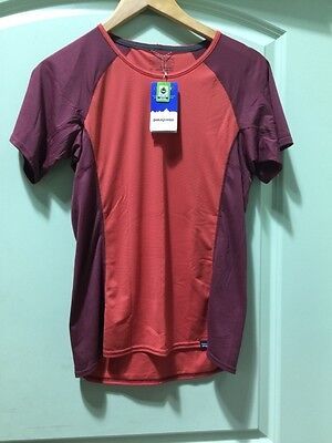Patagonia Women's Capilene Lightweight Baselayer T-Shirt Size Small Sumac Red