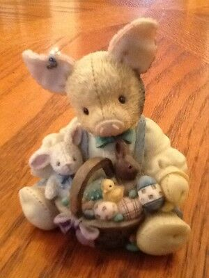 1995 Enesco This Little Piggy EASTER SURE IS SWEET Numbered figurine EUC