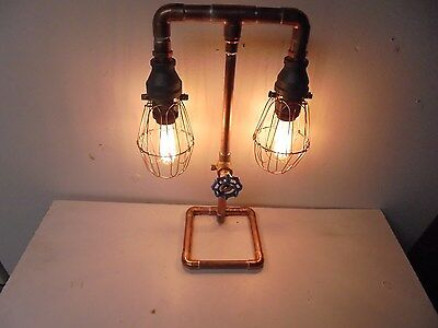 Copper Steampunk Dual Table Lamp