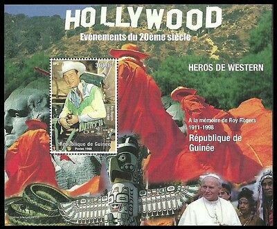 Guinea 1998 Films Filmstars Roy Rogers Cowboys Indians Pope M/sheet Mnh