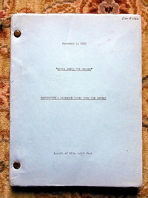 1939 CONTINUITY SCRIPT of JOHN FORD Film DRUMS ALONG THE MOHAWK 20th Century Fox
