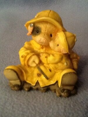 1995 Enesco This Little Piggy SHOWERING YOU WITH HOGS Numbered Figure EUC
