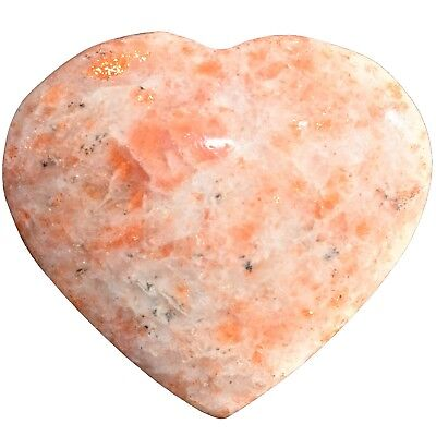 [1] MD Sunstone Crystal Puffy Heart / Palm Stone Reiki ZENERGY GEMS™
