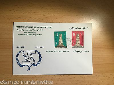 Yemen 1969, Int'l Labour Org Stamps Set illustrated First Day Cover - Aden FDC