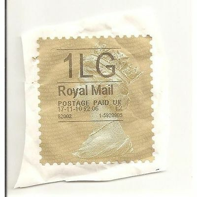 G.B Queen Elizabeth 2010 Gold Horizon Label 1LG £2.06 E2 Royal Mail (used)