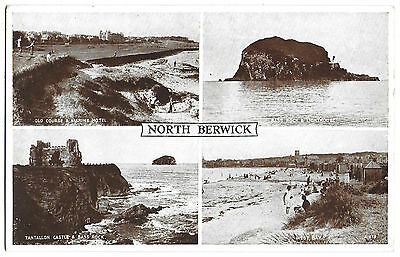 Vintage Postcard.  NORTH BERWICK Multiview.  Unused.  Ref:72244