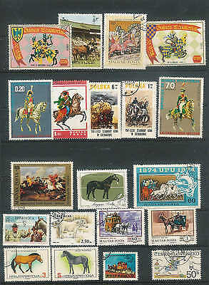 World Thematic Horses Military Mted horsemen Racing Medieval Huzzar Ponies A45