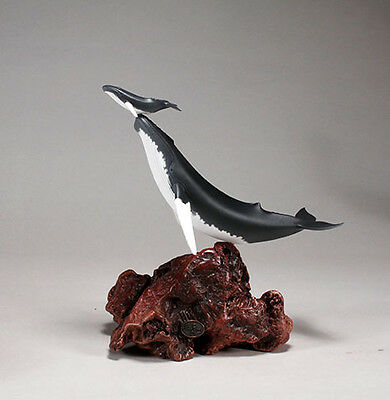 HUMPBACK WHALE & Calf New direct from JOHN PERRY 11in tall Sculpture Figurine