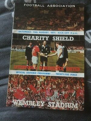 Liverpool v Manchester United 1977 Charity Shield