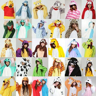 Hot Unisex Adult Pajamas Kigurumi Cosplay Costume Animal Onesie Sleepwear Suit*