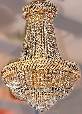 French Empire Style Crystal Basket Chandelier