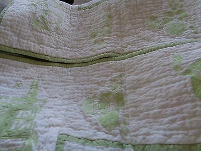 Pottery Barn Kids Owen Toile Farm  Crib quilt  New