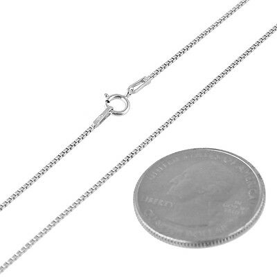 1mm  925 Sterling Silver Solid Vintage Lady Box Chain Necklace 26 Inch 3.3 Gram
