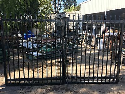 Commercial Quality Black Gates 1745w X 2100h To Suit Opening 4m