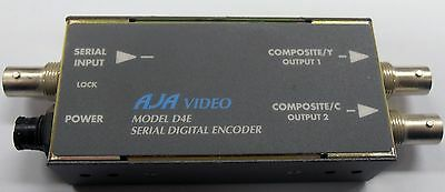 AJA D4E SDI To Composite or S-Video Converter