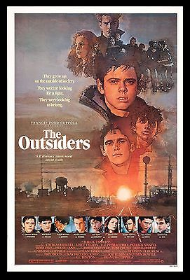 THE OUTSIDERS * CineMasterpieces 1SH VINTAGE ORIGINAL MOVIE POSTER 1982