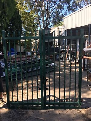 Commercial Quality Green Gates 1000w X 2100h Each X2 To Suit Opening 2m
