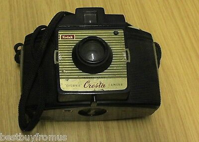 Vintage Kodak Brownie Cresta Camera Photo Camera Collectible / Untested