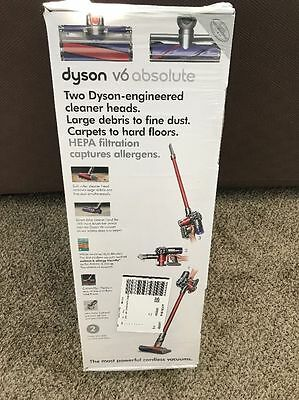 Brand New! Dyson V6 Absolute Cordless Vacuum - Red/Silver