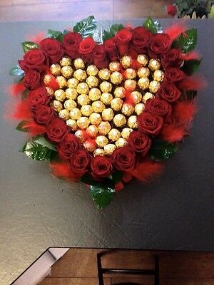 Ferrero Rocher Chocolate Heart - Bouquet - Handmade - Perfect Gift