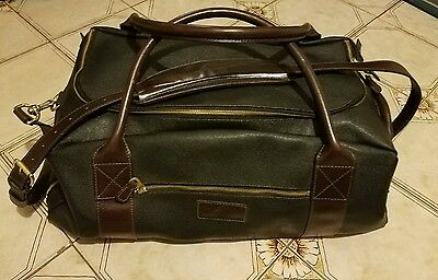 Mulholland Brothers Black w Brown Trim-Travel Carry On Duffel Bag