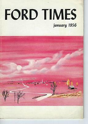 January 1956 Ford Times Magazine/Great Cover Art