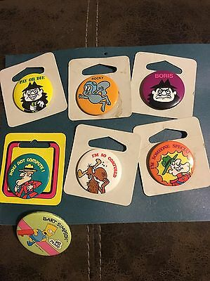 "Rocky And Bullwinkle 1.5"" Pin Back Collectors Pins Cartoon Boris"