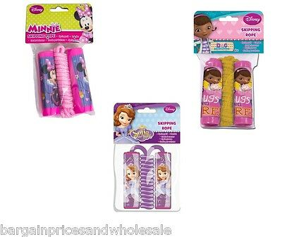 Disney Character Skipping Jump Rope,Minnie Mouse,Sofia,Doc Mcstuffin