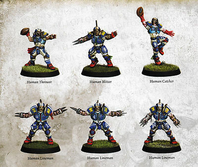 Blood Bowl 2016 - Human Team Players NEW on Sprue with tokens