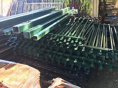 21m Of Commercial Quality Green Fencing 2100h With Posts. Price Per Piece.