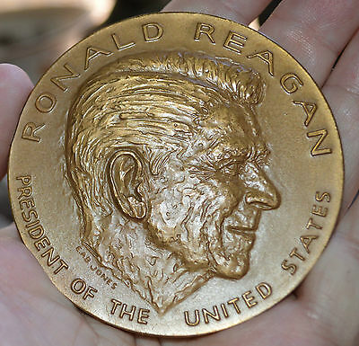 """1981 Us Mint Inaugural Ronald Reagan  Bronze 3"""" Medal Sold Out Mint"""