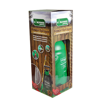 5 Litre Fence Sprayer Manual Pressure Sprayer Wood Treatment Shed Decking New