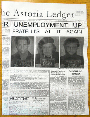 The Goonies Fratelli's Newspaper Wanted Poster Replica Prop Chunk Sloth NR!