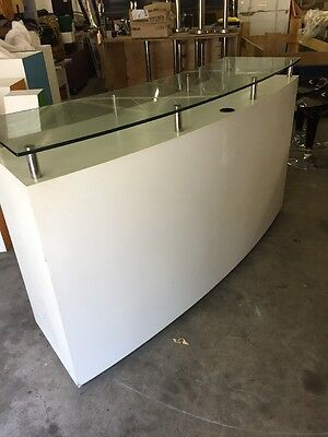 Shop Counter With Display Glass Top And Lockable Cupboards